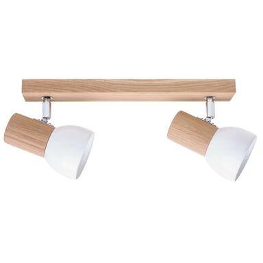 Listwa reflektorowa SVENDA biała z drewnem E27 SPOT-LIGHT
