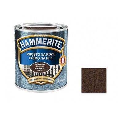 Farba antykorozyjna PROSTO NA RDZĘ 0.7 l Brązowy Młotkowy HAMMERITE