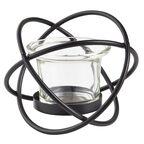 Lampion metalowy na tealighta GWIAZDA czarny