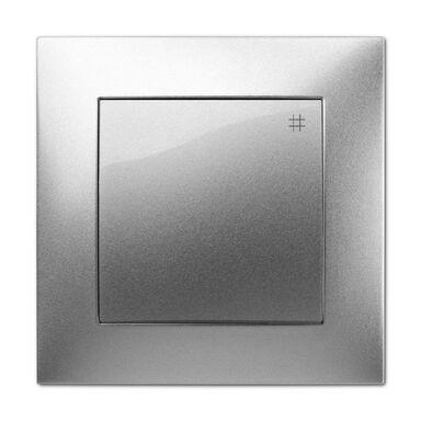 Włącznik pojedynczy CARLA  Srebrny  ELEKTRO-PLAST