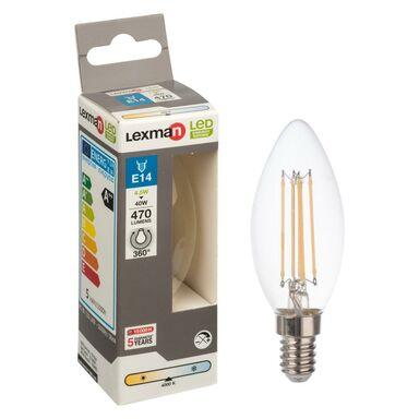 Żarówka LED E14 (230 V) 4.5 W 470 lm Zimna biel LEXMAN