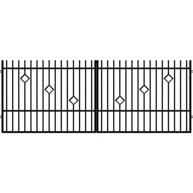 Brama dwuskrzydłowa RITA II 400 cm POLARGOS