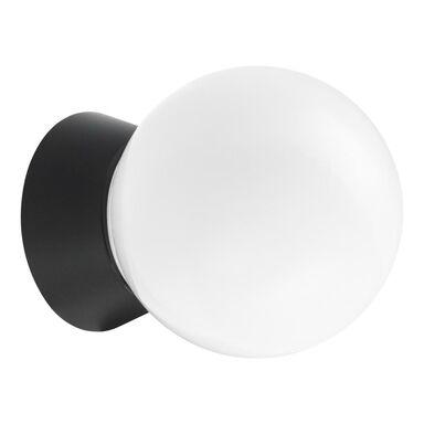 Kinkiet zewnętrzny Sologne Kula IP44 biało-czarny E27 Inspire