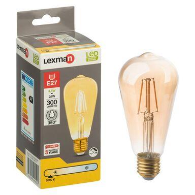 Żarówka dekoracyjna LED E27 (230 V) 3 W 300 lm LEXMAN