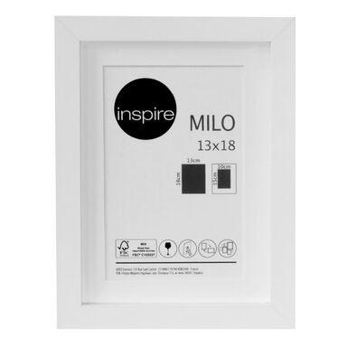 Ramka na zdjęcia MILO 13 x 18 cm biała MDF INSPIRE