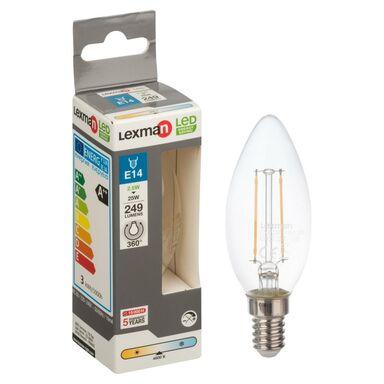 Żarówka LED E14 (230 V) 2.5 W 249 lm Zimna biel LEXMAN