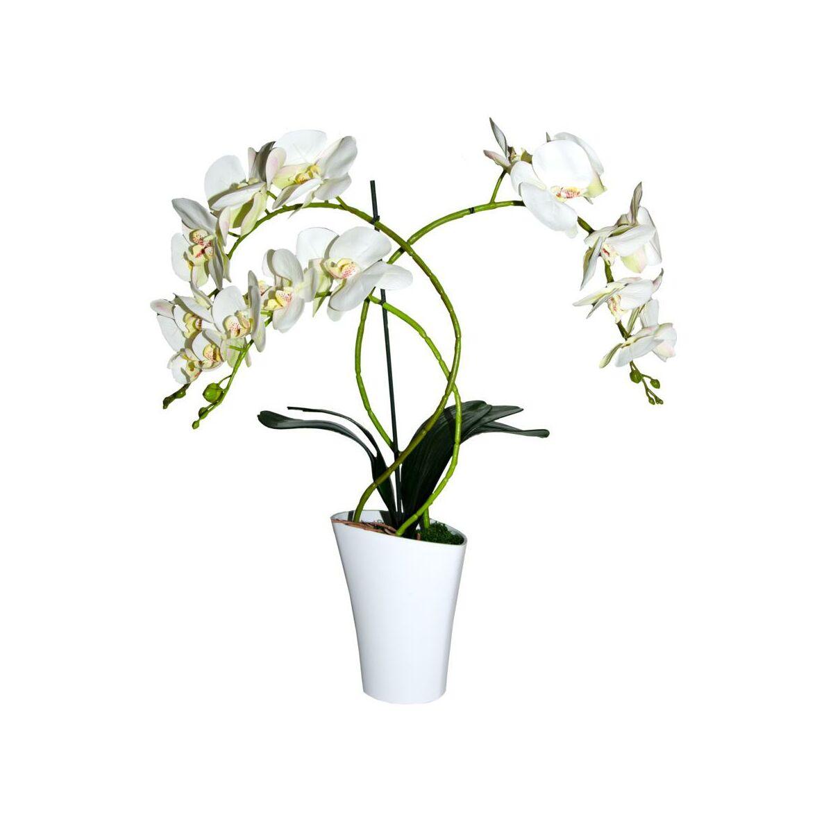 Storczyk Sztuczny W Doniczce 67 Cm Bialy 3 Pedy Sztuczne Kwiaty W Atrakcyjnej Cenie W Sklepach Leroy Merlin