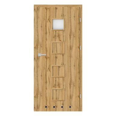 Skrzydło drzwiowe z tulejami wentylacyjnymi NEVADA Dąb Wotan 70 Prawe NAWADOOR