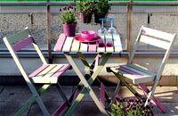 Kolorowe meble na balkon