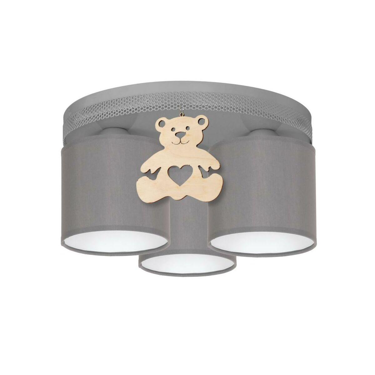Lampa Sufitowa Mis Szara Z Drewnem E27 Eko Light Zyrandole Lampy Wiszace I Sufitowe W Atrakcyjnej Cenie W Sklepach Leroy Merlin