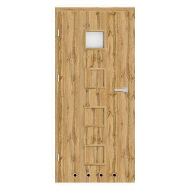 Skrzydło drzwiowe z tulejami wentylacyjnymi NEVADA Dąb Wotan 90 Lewe NAWADOOR