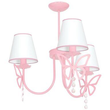 Lampa wisząca CHARLOTTE różowa E14 EKO-LIGHT