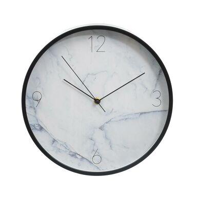 Zegar ścienny Marmur śr. 30.5 cm biały