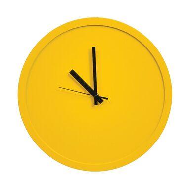 Zegar ścienny śr. 30 cm żółty