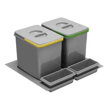 Kosz na śmieci do segregacji PB-91104100B5 2 x 15 l GTV