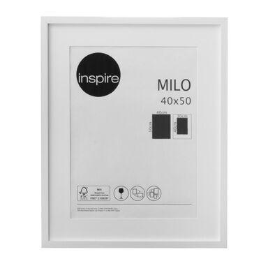 Ramka na zdjęcia MILO 40 x 50 cm biała MDF INSPIRE