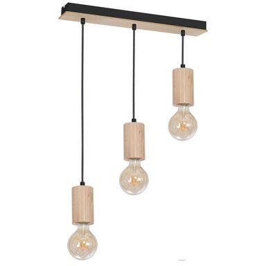 Lampa wisząca Lines drewniana 3 x E14 Milagro