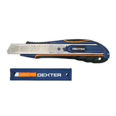 Nóż techniczny 18 mm + 3 ostrza DEXTER