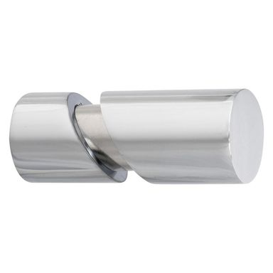 Końcówka do karnisza CIGARETTE chrom 20 mm 2 szt. INSPIRE