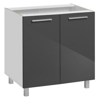 Szafka kuchenna stojąca Salma 80 cm kolor grafitowy/biały