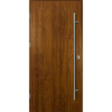 Drzwi zewnętrzne stalowe SOLID Złoty dąb 90 Lewe