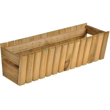 Doniczka balkonowa 60 x 20 cm drewniana STOKROTKA SOBEX