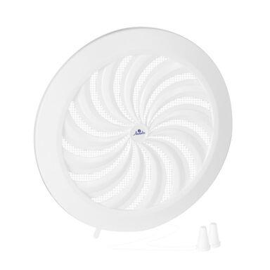 Kratka wentylacyjna OKRĄGŁA Z ŻALUZJĄ 125 biała AWENTA