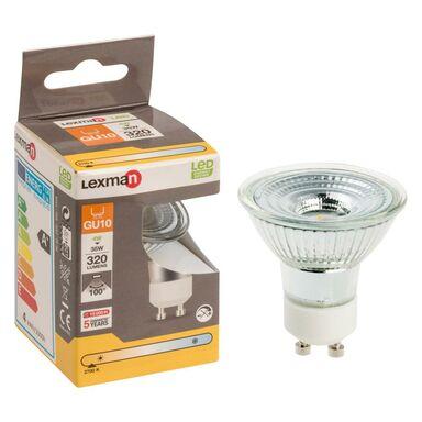 Żarówka LED GU10 (230 V) 4 W 320 lm Ciepła biel LEXMAN