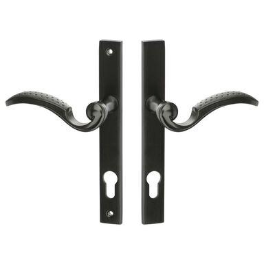 Klamka do furtki Baron szyld długi prawa/lewa 90 mm na wkładkę czarna Kuchinox