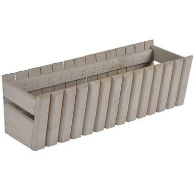 Doniczka Balkonowa 60 X 20 Cm Drewniana Piaskowa Stokrotka Sobex