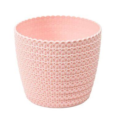 Osłonka plastikowa 16 cm różowa MAGNOLIA