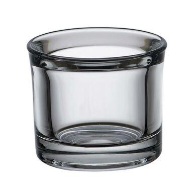 Świecznik szklany Heavy wys. 6.5 cm transparentny