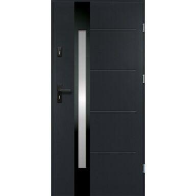 Drzwi zewnętrzne stalowe ARIADNA Antracyt 80 Prawe
