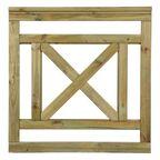 Płot tarasowy 90x90 cm drewniany KEN SOBEX