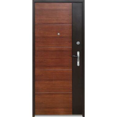 Drzwi wejściowe DUO 90 Lewe Dąb/Orzech OK DOORS TRENDLINE