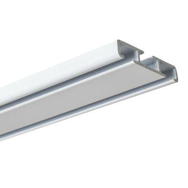 Szyna sufitowa dwustronna 250 cm 2-torowa lub 1-torowa biała aluminiowa Kowalski