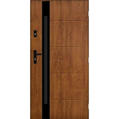Drzwi zewnętrzne stalowe SAINT TROPEZ Złoty dąb 90 Prawe PANTOR