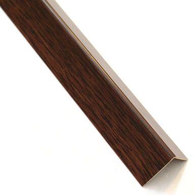 Kątownik PVC 2.6 m x 11 x 11 mm matowy drewno ciemne