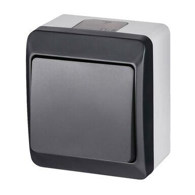 Włącznik pojedynczy schodowy IP44  Szary/antracytowy  ELEKTRO-PLAST