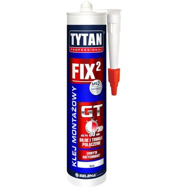 Klej montażowy FIX2 GT 290 ml Biały TYTAN