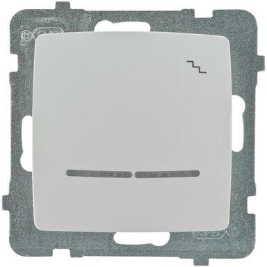 Włącznik schodowy Z PODŚWIETLENIEM KARO Biały OSPEL