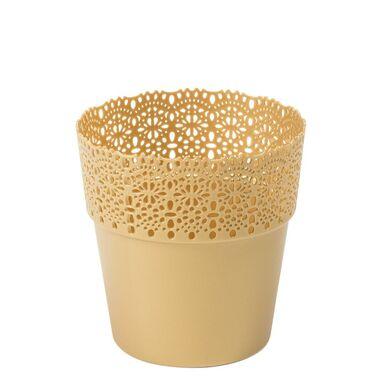 Osłonka na doniczkę 14.5 cm plastikowa złota BELLA