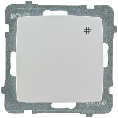 Włącznik krzyżowy KARO  Biały  OSPEL