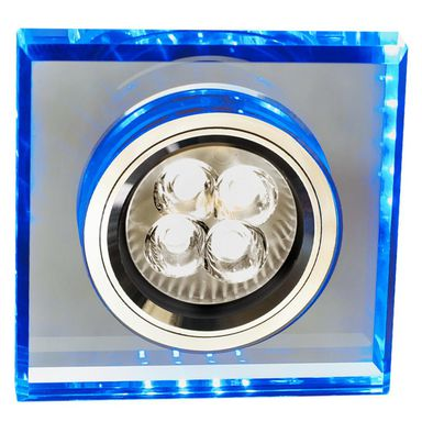 Oprawa stropowa SS-22 kwadratowa niebieska + LED CANDELLUX