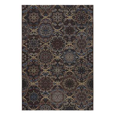 Dywan zewnętrzny Borneo brązowo-bordowy turecki 80 x 150 cm
