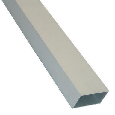 Rura prostokątna aluminiowa 1 m x 55 x 30 mm surowa srebrna STANDERS