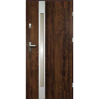 Drzwi wejściowe TEMIDAS Orzech 80 Prawe