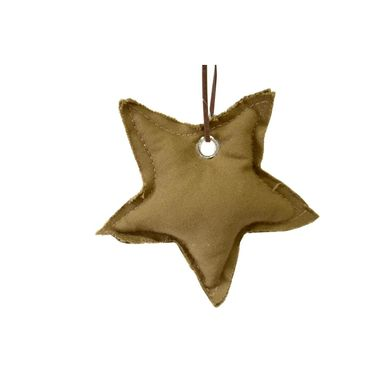Zawieszka gwiazdka z tkaniny 13 cm 1 szt. brązowa