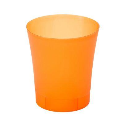 Osłonka Na Doniczkę 125 Cm Plastikowa Pomarańczowa Orchidea Lamela