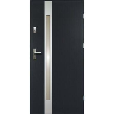 Drzwi zewnętrzne stalowe TEMIDAS Antracyt 90 Prawe